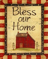 Bless our Home Framed Print