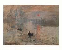 Impression, Sunrise, c.1872 (green) Fine Art Print