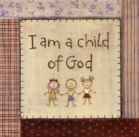 I am a Child of God Framed Print