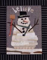Snowman Believe Fine Art Print