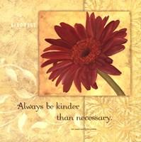 Kindness - Gerber Framed Print