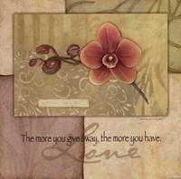 Love - Orchid Framed Print