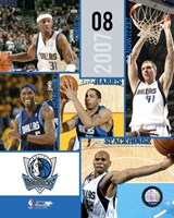 '07 / '08 Mavericks Team Composite Fine Art Print