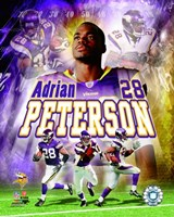 Adrian Peterson - 2007 Portrait Plus Framed Print