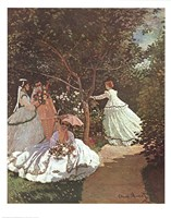 Women in a Garden Fine Art Print