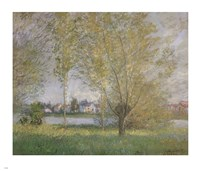 Willows of Vetheuil Framed Print