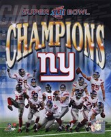 New York Giants 2007 Super Bowl XLII Champions Composite Fine Art Print