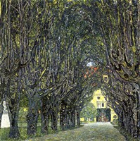 Avenue of Trees in the Park at Schloss Kammer, c.1912 Fine Art Print