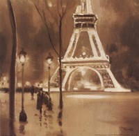 Eiffel Tower Detail Framed Print