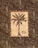 Vintage Palm IV - mini Framed Print