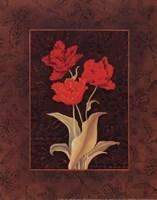 Damask Tulip - petite Framed Print