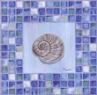 Mosaic Moonshell - mini Framed Print