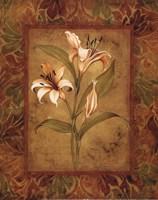 Garden Lilies I - mini Fine Art Print