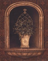 Olive Topiary Niches II - petite Framed Print