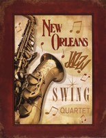 New Orleans Jazz II Framed Print