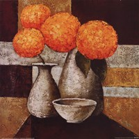 Hydrangeas with Vase III Fine Art Print