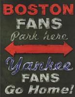 Yankee Fans Go Home Framed Print