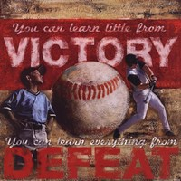 Victory - Baseball Framed Print