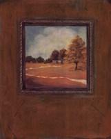 Copper Landscape II Framed Print