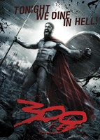 300 - Leonidas - Dine in Hell Wall Poster