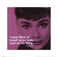 Audrey Hepburn - iPhilosophy - Icon Wall Poster