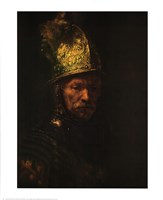 Man with Helmet Fine Art Print