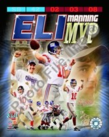 Eli Manning SuperBowl XLII MVP Portrait Plus Fine Art Print