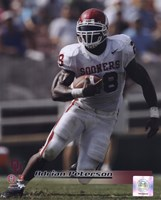 Adrian Peterson University of Oklahoma Sooners 2005 Action Fine Art Print