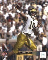 Tom Brady University of Michican Wolverines 1998 Action Fine Art Print