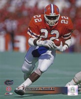 Emmitt Smith Florida Gators 1988 Action Fine Art Print