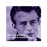 James Dean - iPhilosophy - Immortality Wall Poster