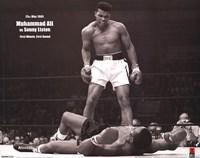 Muhammad Ali - 1965 1st Round Knockout VS Sonny Liston Wall Poster