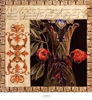 Antique French Manuscript I Framed Print