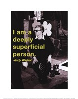 I am a deeply superficial person Fine Art Print