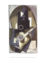 L'Homme a la Guitare, 1918 Framed Print
