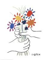 Mains Aux Fleurs Fine Art Print