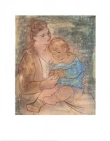 Mother and Child Framed Print