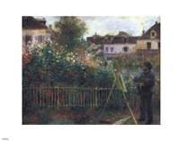 Monet Painting in his Garden at Argenteuil, c.1873 Fine Art Print