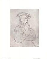 Girl in Beret Fine Art Print