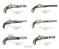Authentic Early American Pistols (Set 6) Fine Art Print