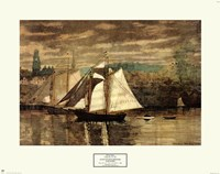 Gloucester Schooners and Sloop Fine Art Print