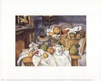 Still Life with Fruit Basket Fine Art Print