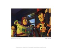 Buzz Lightyear and Woody Framed Print
