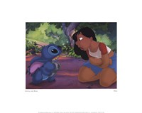 Stitch and Nani Framed Print