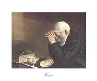 Grace (Old Man Praying) Framed Print