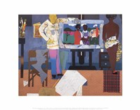 Profile/Part II, The Thirties: Artist with Painting and Model, 1981 Fine Art Print