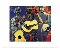 Three Folk Musicians, 1967 Fine Art Print