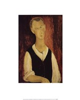 Young Man with a Black Waistcoat, 1912 Fine Art Print