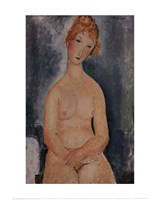 Seated Nude, ca. 1918 Fine Art Print