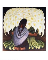 The Flower Seller Fine Art Print